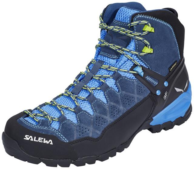 Salewa M's Alp Trainer Mid GTX Shoes Dark Denim/Cactus (2019)
